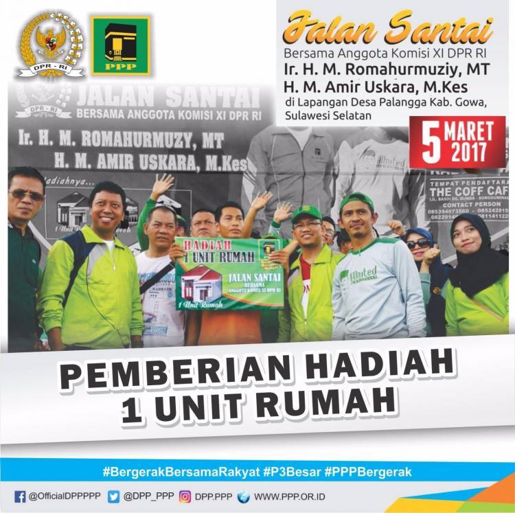 """Gerak Jalan Ber Tema Bergerak Bersama Rakyat """" Banjir Hadiah"""""""