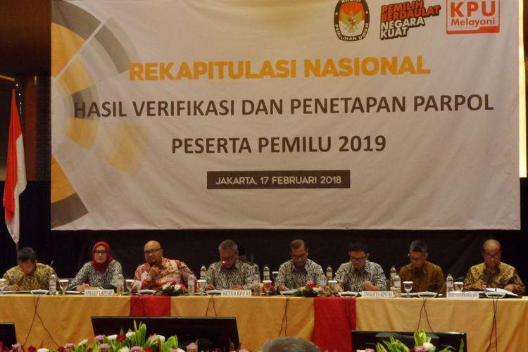 14 PARPOL dinyatakan memenuhi syarat menjadi peserta Pemilu 2019