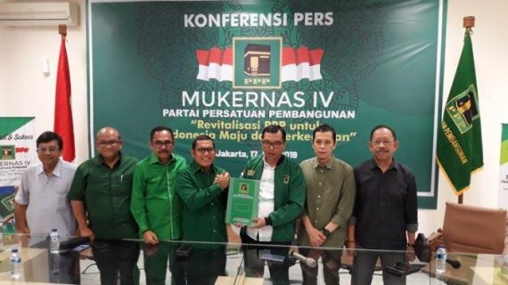 PPP Gelar Mukernas IV 19-20 Juli, Bahas Revitalisasi Hingga Evaluasi Hasil Pemilu 2019