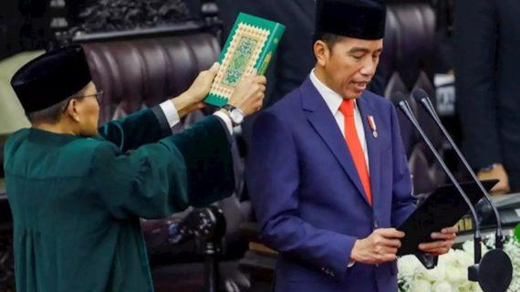 Sumpah Pelantikan Presiden Jokowi dan Wakil Presiden Ma'ruf Amin