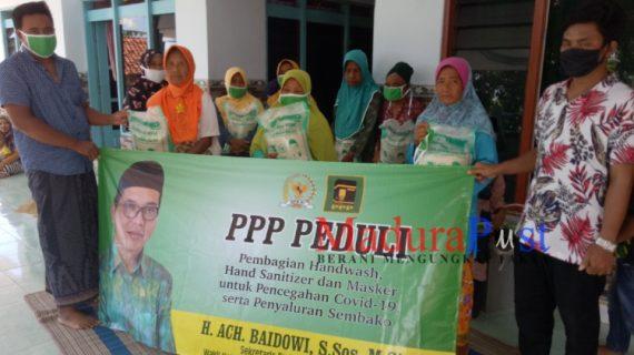 PPP Pamekasan Masuk Desa Membagi Sembako